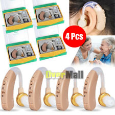 4 Pcs of Digital Hearing Aid Aids Kit Behind the Ear BTE Sound Voice Amplifier