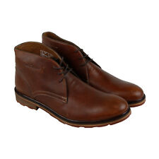 Hush Puppies Benson Rigby Ice+ Mens Tan Leather Casual Dress Chukkas Shoes