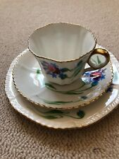 Bone china floral cup saucer and tea plate set x 3!! Carlton China/Caledonia