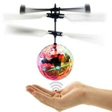 Infrared Induction Flash Flying Ball Colorful LED Disco RC Helicopter Toy  GA