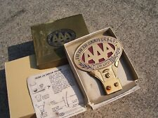 Vintage nos 50s AAA award auto emblem plate badge gm ford chevy rat rod pontiac (Fits: 1936 Dodge)