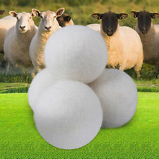 Organic Wool Dryer Balls Natural Fabric Softener Reusable Large Ball 1/6Pack fq1
