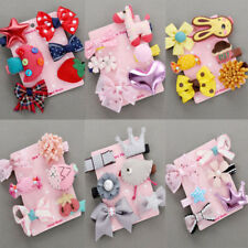 6Pcs/set Cute Kids Infant Hairpin Mini Barrettes Baby Girl Bow Flower Hair Clips