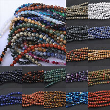 4/6/8/10/12MM Wholesale Round Loose Spacer Beads DIY Pendant Necklace Jewelry