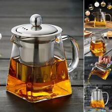 350/550/750ml Heat-resistant Glass Filter Teapot Stainless Steel Infuser Herbal