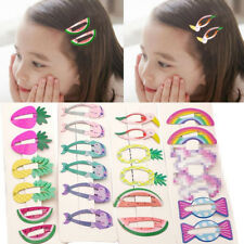 6Pcs/set Hair Clips Snaps Hairpin Girls Baby Kids Hair Bow Accessories Gift Cute