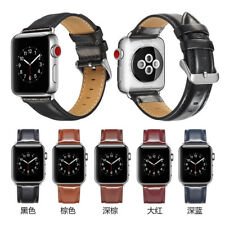 Leather Wrist Strap For Apple Watch Band 38mm 42mm for iWatch Women Men