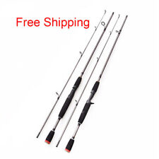 New 2 Segments Fishing Rod Travel Spinning Lure Rod Sea Saltwater Pole 1.8M