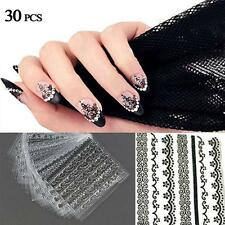 30pcs 3D Nail Art Manicure Tips Stickers Decals DIY Flower Design Decoration MT
