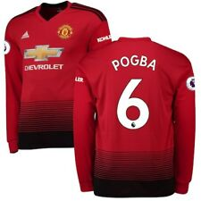 adidas Paul Pogba Manchester United Red 2018/19 Home Replica Long Sleeve Player