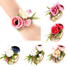 Rural Wrist Corsage Bracelet Wedding Party Bridesmaid Sisters Hand Flower Dote