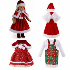 """Santa Suit Christmas Outfit Doll Clothes Dress up for 18"""" Our Generation My Life"""