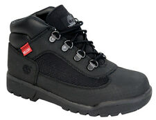 Timberland Splitrock Hiker Youth Kids Boots Shoes Black Carbon Leather 3371R U79
