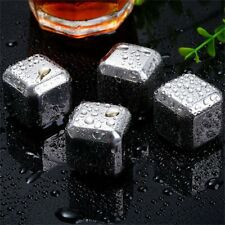 Reusable Non-Toxic Safe Stainless Steel Wine Ice Cooling Cubes No Melt QG