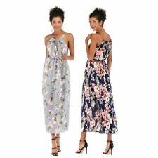 Dress party floral long sundress boho beach maxi evening cocktail chiffon summer
