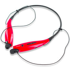 Red Bluetooth Wireless Earphones Headset Headphones Stereo Sport For Phones