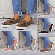 Womens Ladies Loafers Pumps Summer Beach Casual Slip On Flat Sneakers Shoes Size