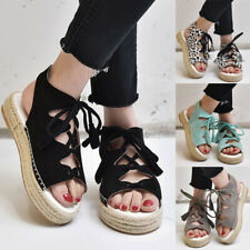 Womens Chunky Sandals Ladies Summer Casual Espadrilles Platform Gladiator Shoes