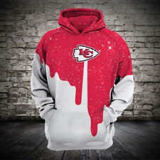 Kansas City Chiefs Hoodie Hooded Sweatshirt Pullover NFL Football Fan Size S-5XL