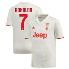 adidas Cristiano Ronaldo Juventus Youth White 2019/20 Away Replica Player Jersey