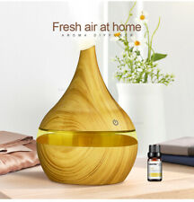 300ml USB Electric Aroma diffuser wood Ultrasonic air humidifier Essential oil