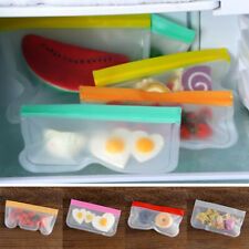 Containers BPA Free PEVA Fresh Bag Silicone Food Storage Bag Ziplock Pouch