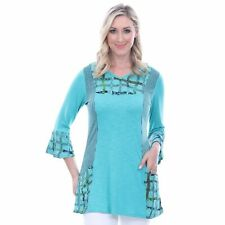 Parsley & Sage Plus Size Sea Green Jodie Bell Sleeve Tunic 2X
