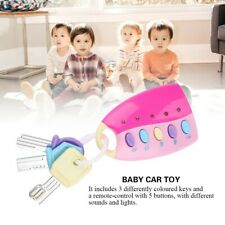 Baby Kid Musical Smart Remote Car Key Voices Pretend Play Education 10 Songs Toy