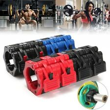 1-2inch Olympic Lock Barbell Clamp Spinlock Collars Cross Gym Fitness Weight Bar