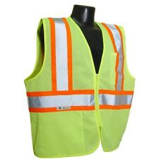 Radians SV22-2ZGM Lime Green Mesh Class 2 Two-Tone Safety Vest With Zipper