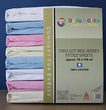 Boys & Girls Cot Bed / Toddler Bed Fitted Sheets,100% Cotton,70x140cm(Pack of 2)