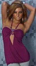 Sexy (B6) Summer Halter neck Necklace Top Size 10 12 14