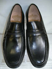 MENS GRENSON BLACK LEATHER WATFORD SLIPON MOCCASIN SHOE