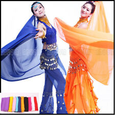【G】 belly dance veil chiffon shawl no gold seqins 12clr