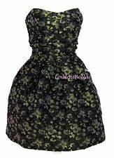 Cocktail Dress Prom Dress Classic Black & Gold Cocktail Party Dress UK 8