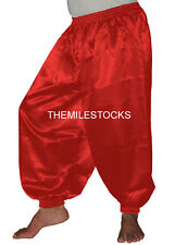 TMS Red Satin Harem Yoga Pant Belly Dance Club 27 Color