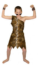 VICTORIAN-Strongman-Flint Stone-CIRCUS FANCY DRESS OUTFIT Leopard Print-all ages