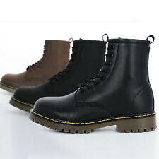 Mens Black Brown High Top Combat Boots Man Military Look Ankle Boots Shoes