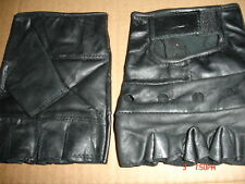 FINGERLESS LEATHER GLOVE    BIKE    MOTORCYCLE