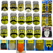 ASSORTED MOUSTACHES BEARD SIDEBURNS FANCY DRESS COSTUME