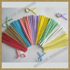 """100 pcs 4"""" Paper Twist Ties for Bakery Candy Cello Bags"""