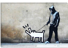 Banksy Choose Your Weapon Haring Dog Canvas Art Print