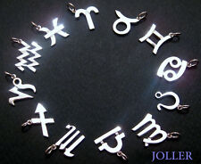 Handmade Zodiac Charms Silver 925 Astrology Polished & Gift String by JOLLER