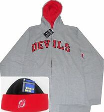 NEW JERSEY DEVILS NHL HOODIE SWEATSHIRT & FLEECE HAT BIG AND TALL SIZES