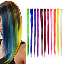 """New 24"""" Colored Colorful Clip On In Hair Extension"""