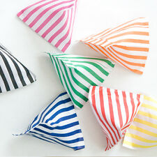 50 CANDY STRIPE PAPER SWEET GIFT PARTY BAGS 5x7 INCHES ~ CAKE BAGS ~ ALL COLOURS