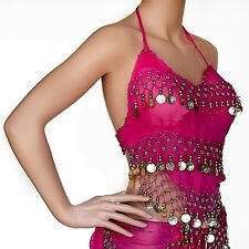 SEXY HALTER TOP CAMISOLE BELLY DANCE COSTUME GYPSY TRIBAL 12 COLOR FREE SHIP