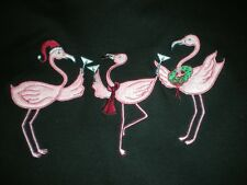 CHRISTMAS 3 FLAMINGOS SHIRT HOLIDAY TOASTING NEW YEARS EVE PARTY XL, 1X, 2X, 3X
