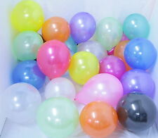 """100 x 10"""" HELIUM QUALITY PEARLISED LATEX BALLOONS, FOR SPECIAL OCCASIONS/PARTIES"""