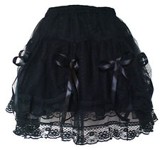 Gothic Mini Skirt Black Prom Halloween Party Wear Punk Custom Made Size1530